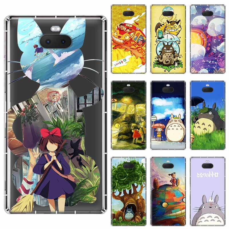 Mi vecino Totoro paseo Anime suave TPU caso para Sony Xperia X XA XA1 XA2 XA3 XZ XZ1 XZ2 XZ3 XZ4 L1 L2 L3 más Compeact