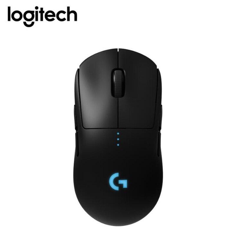 Беспроводная игровая мышка logitech G PRO, RGB, двойной режим с датчиком HERO 16K dpi, светильник, скоростная лазерная мышь POWERPLAY Com