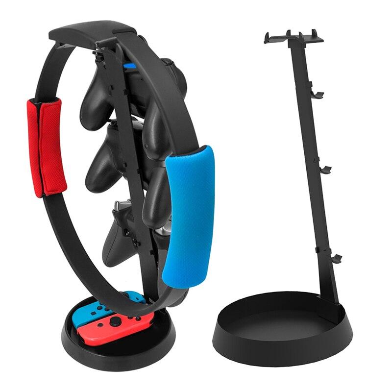 ALLOYSEED Gamepad juego regulador para auriculares de almacenamiento pantalla soporte abrazadera pedestal para PS4/Xbon uno/Nintend interruptor deslice el anillo-anillo Con