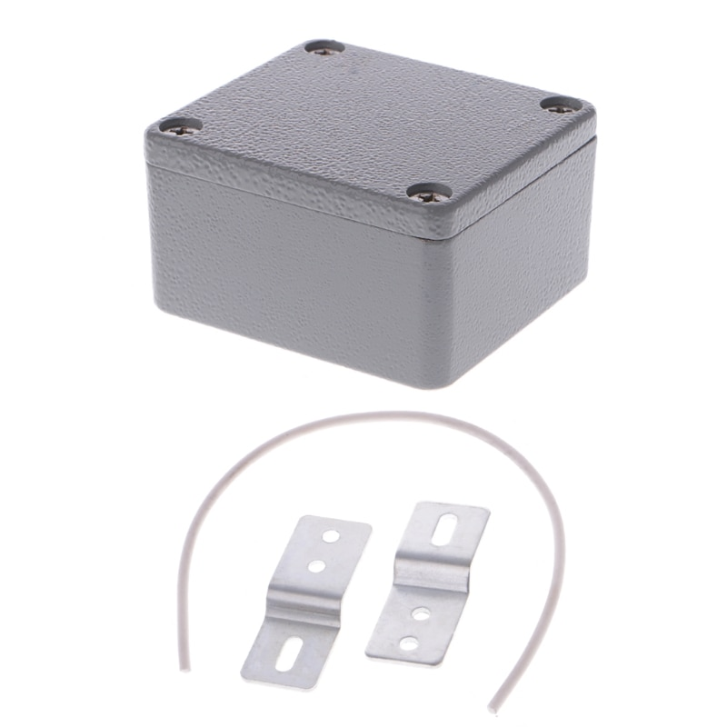 Sealed Die-Cast Aluminum Enclosure Case Junction Box 64x58x35mm LxWxH IP67