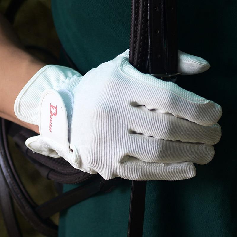 Перчатки для верховой езды детские дышащие аксессуары для лошадей Нескользящие мужские женские мужские спортивные перчатки для верховой е...