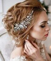 delicate pearl bead bridal tiara bridal hair vine bride wedding headwear wedding hair jewelry elegant wedding headband for bride