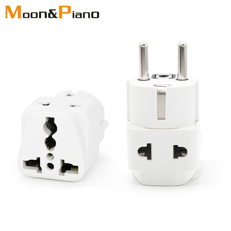Universal UK US AU To EU AC Travel Power Adapters in France Germany Greece EU Plug Converter Electrical Charger