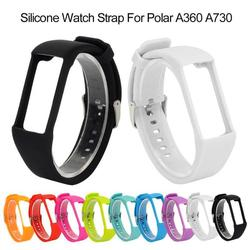 Novo colorido substituição pulseira de silicone pulso substituição pulseira de silicone banda de silicone com fivela para polar a360 a370 rastreador quente