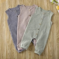 0 18m newborn baby clothes plaids romper summer sleeveless baby unisex girl boy jumpsuit overall outfits