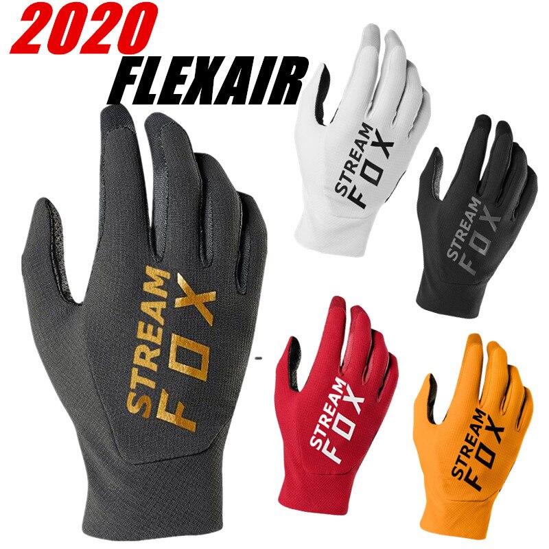 2020 STREAM FOX FLEXAIR Motocross Glove Top Dirt Bike Glove Mountain Bike Moto Gloves Touch Screen MX ATV Motorcycle Gloves