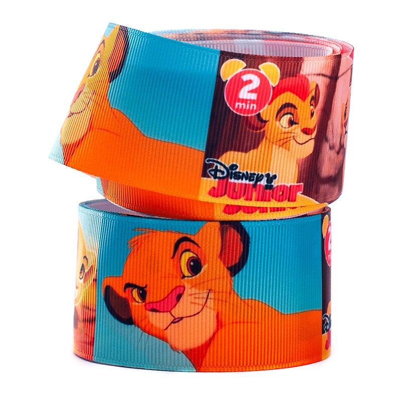 10yards different sizes cute lion cartoon kids printed grosgrain ribbon