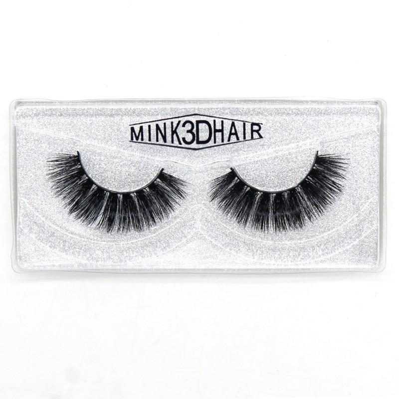 Mink 3D hair fake lashes thick natural look handmade reusable false eyelashes extensions soft vivid 300pairs/lot DHL Free