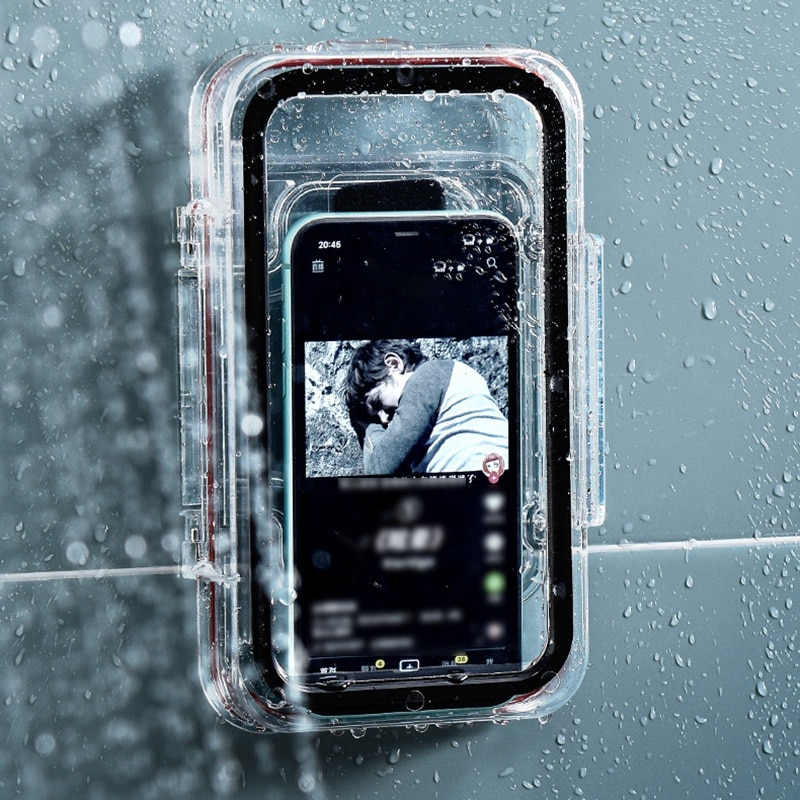 الحمام المرحاض حامل هاتف المحمول الحائط صندوق تخزين 6 بوصة الهاتف حقيبة للتخزين دش مقاوم للماء مشاهدة حامل