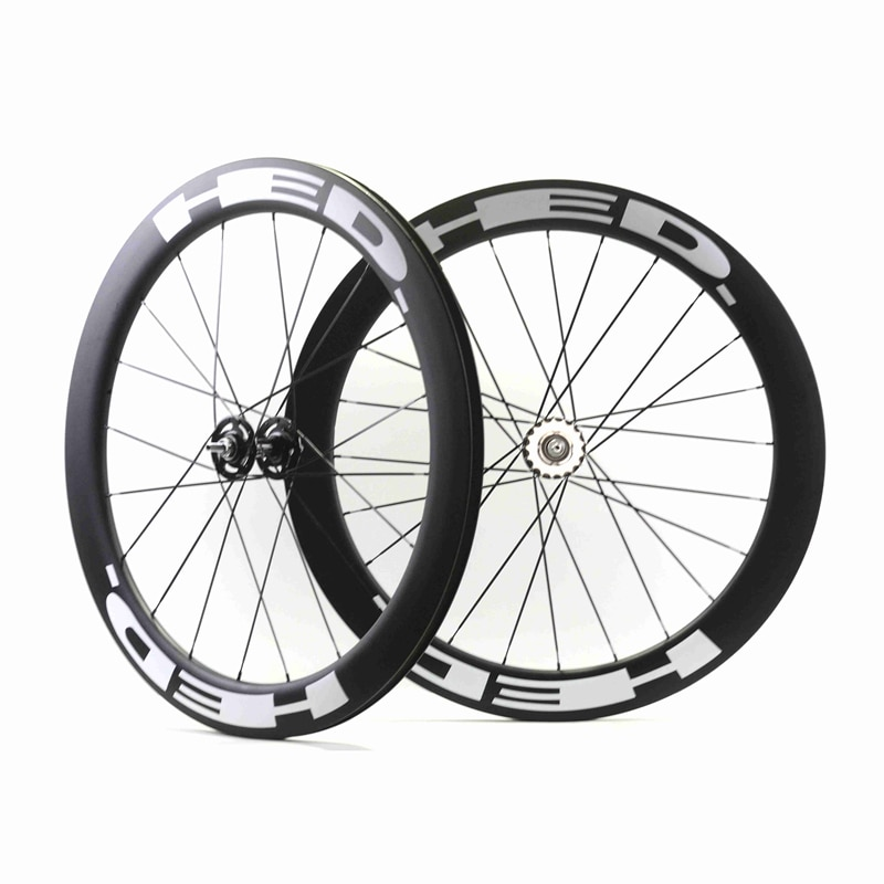 700c Carbon track wheels fixed gear carbon wheelset 60mm clincher single speed bike wheels fixie carbon wheelset
