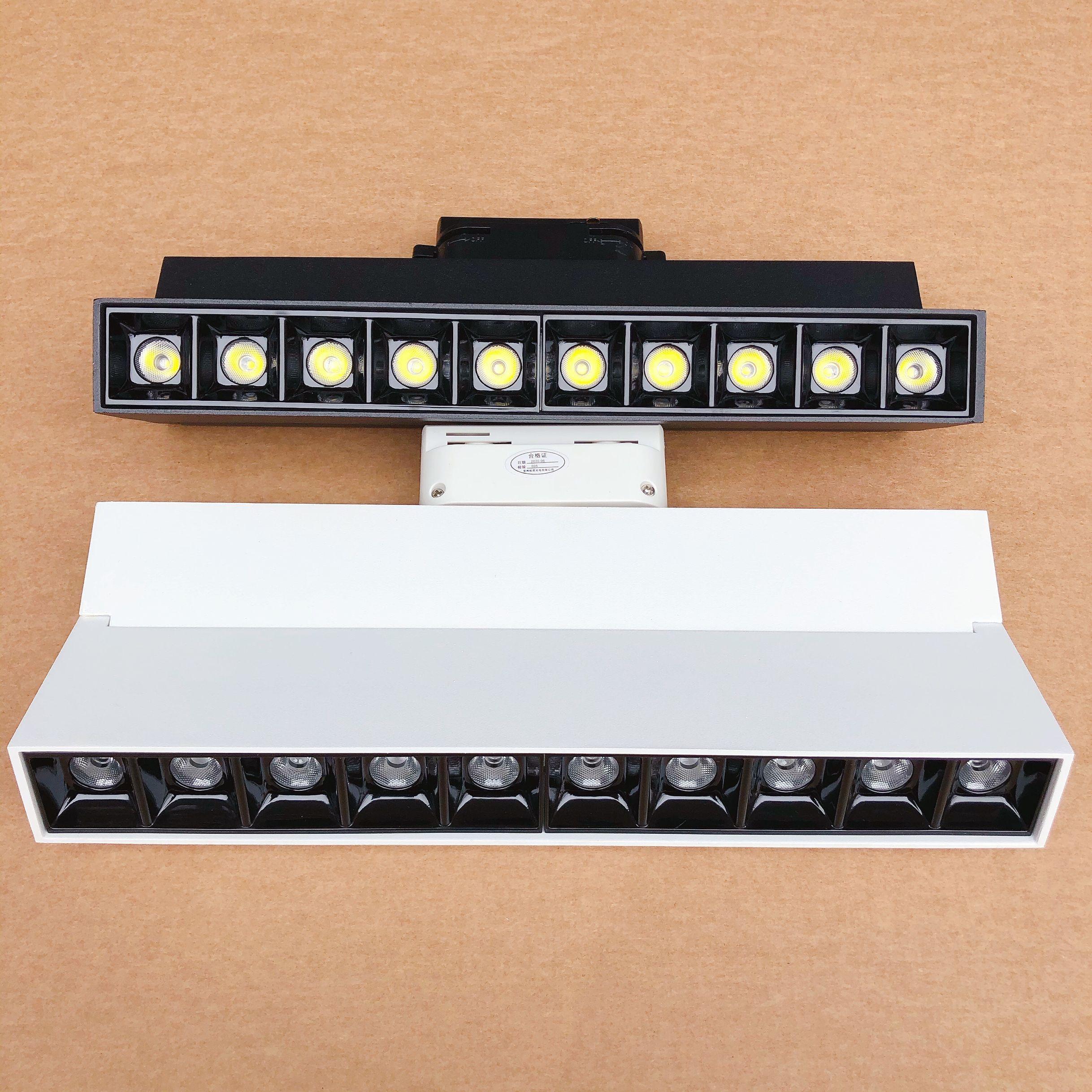 عكس الضوء 20W LED ضوء المسار AC85-265V الضوء 110V 220V السكك الحديدية السقف مصابيح للملابس أحذية متجر مخازن