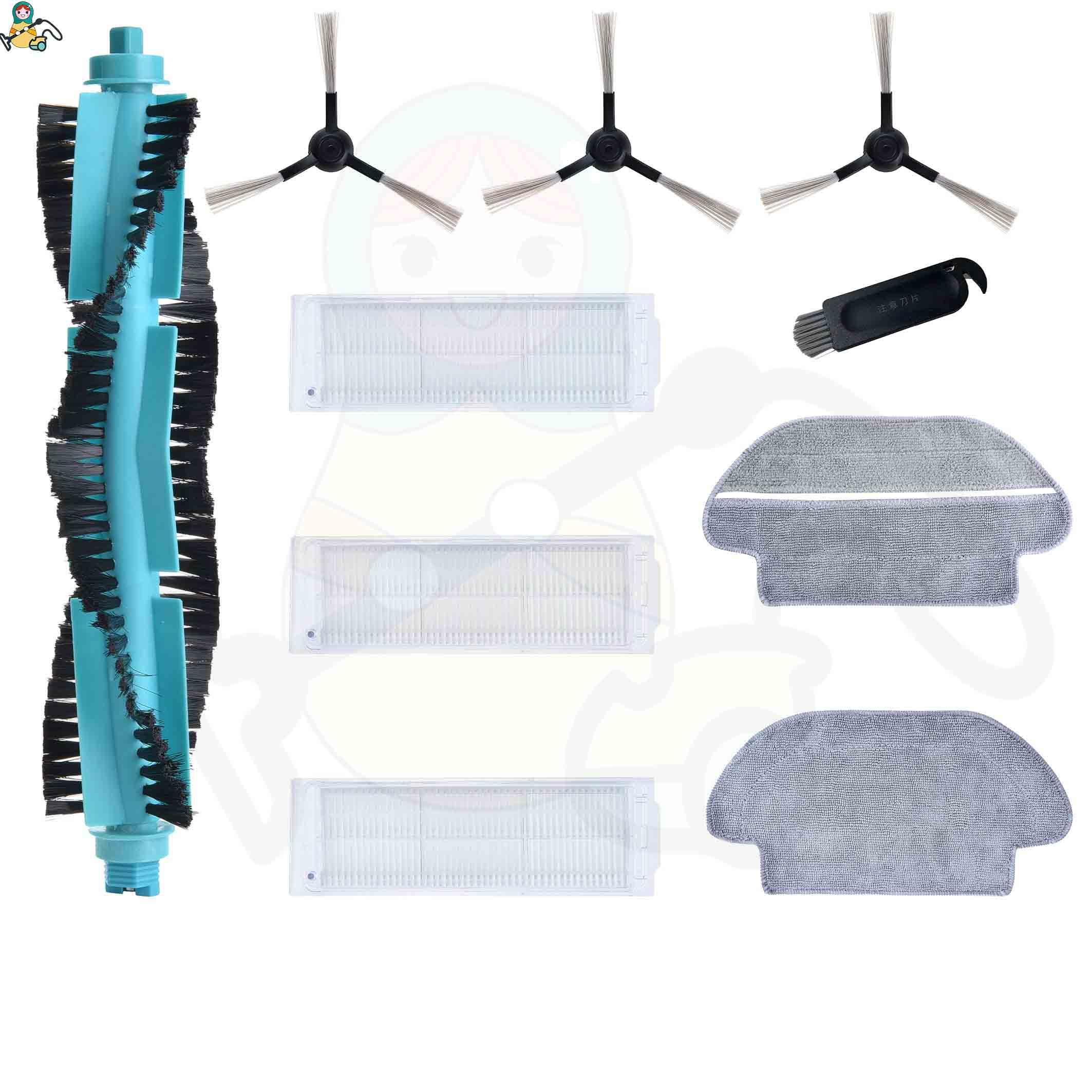 Spazzola laterale Mop straccio spazzola principale per Viomi V2 Pro V3 Mop P Filtro HEPA V-RVCLM21B Norma Mijia STYJ02YM STYTJ02YM Conga 3490 accessori