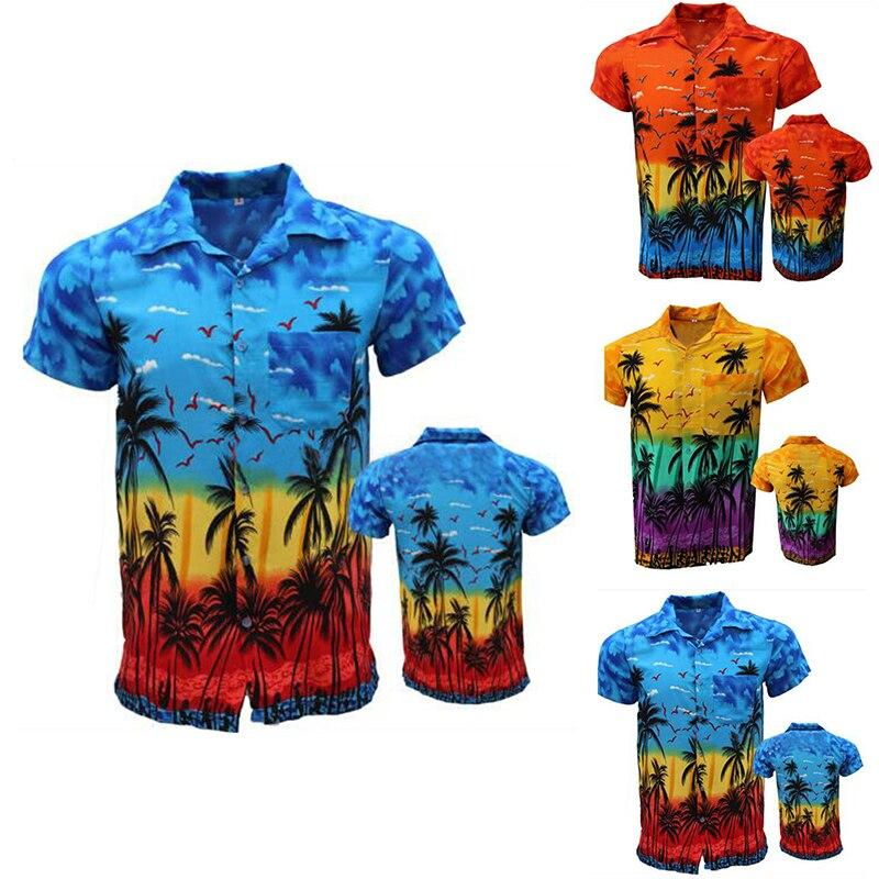 Summer Men Print Hawaiian Shirt Thin Breathable T-shirt Casual Short Sleeve Tops Polyester Comfortable Tees Fashion Clothes zogaa new summer breathable short sleeve polka dot print fashion casual slim short sleeve shirt 3xl