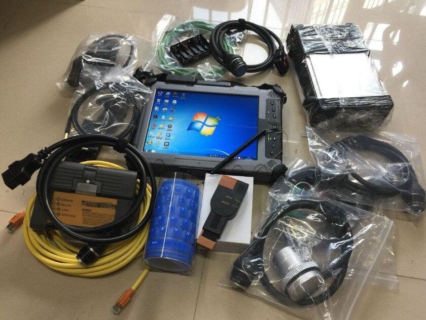 Mb estrela c5 para bmw icom a2 b c + 2pcs ssd mais recente software com portátil xplore ix104 c5 tablet (i7 & 4g) para mb para bmw pronto para usar