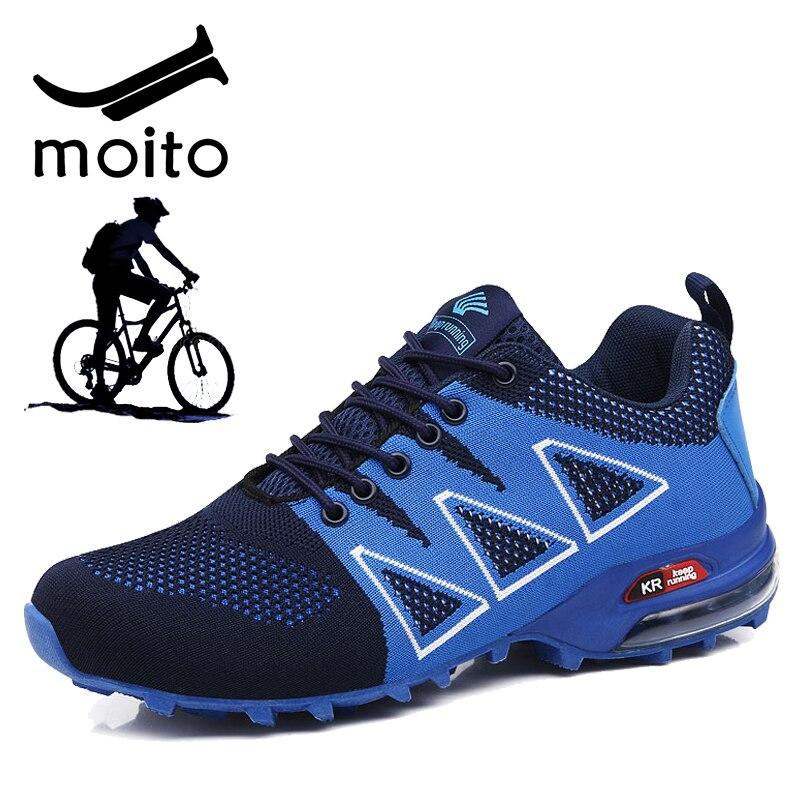 عارضة MTB الدراجات أحذية الرجال في الهواء الطلق الطريق الدراجة أحذية درب الرحلات أحذية المشي الخفيف رياضية الرجال الركض الأحذية حجم 47