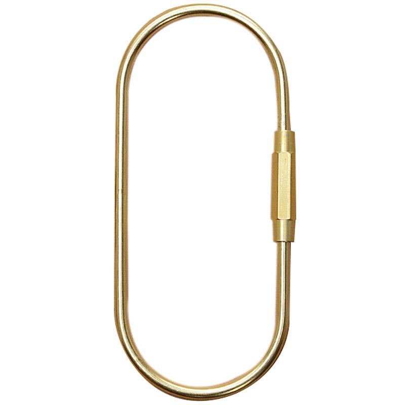 Nuevo llavero con cerradura D llavero Ins Golden Camping mosquetón de supervivencia equipo de Camping hebillas colgadores para llaves accesorios de anillo