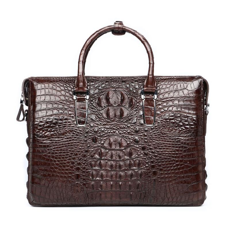 crocodile genuine leather men's business high grade Single Shoulder hand-held briefcase office bags for messenger laptop bag