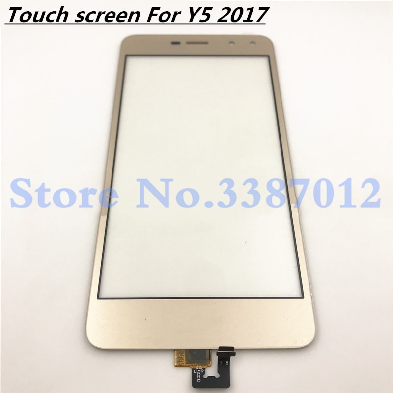 "5,0 ""reemplazo de alta calidad para Huawei Y5 2017 Y5III MYA-L22 MYA-L23 Digitalizador de pantalla táctil Sensor exterior panel de lente de vidrio"