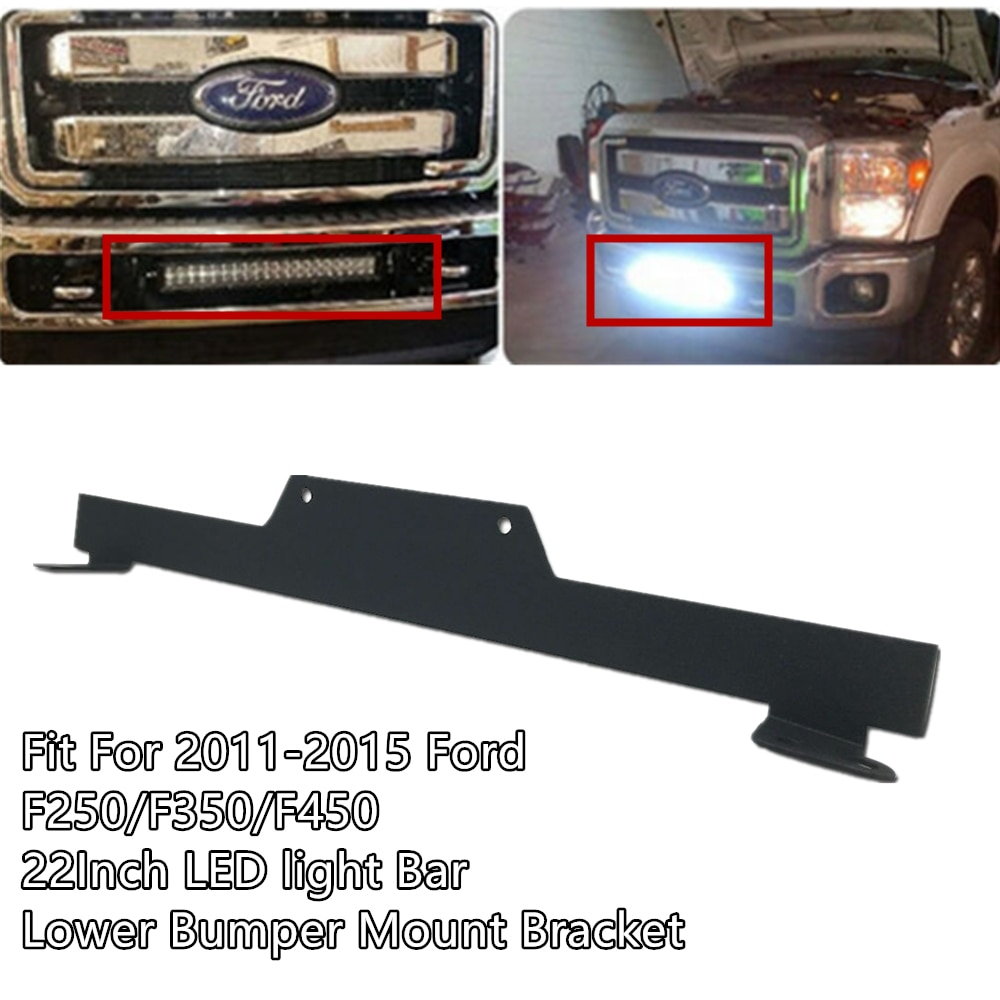"Coche 20 22 ""barra de luz LED de obra titular de menor soporte para montaje de parachoque para Ford F250 F350 F450 2011-2015"