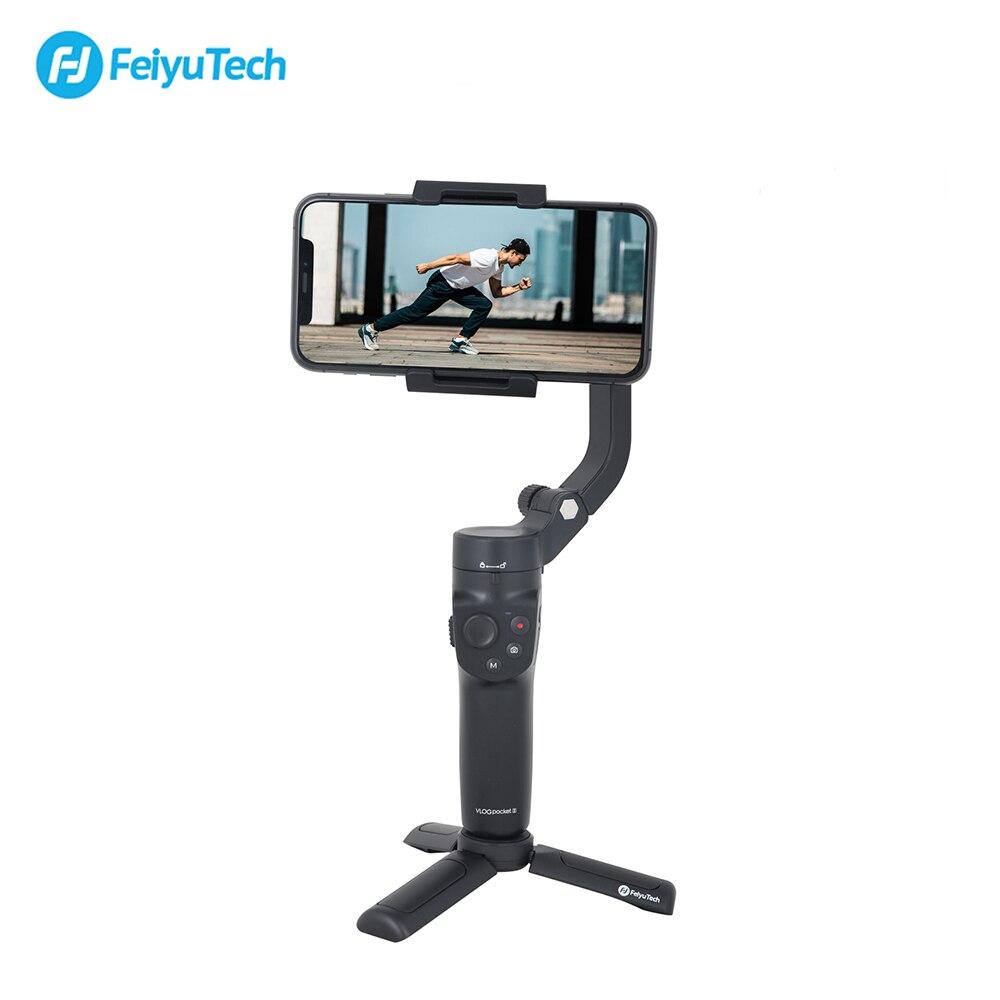 Feiyutech feiyu vlog bolso 2 mini handheld smartphone cardan estabilizador selfie vara para iphone 11 xs xr huawei p30 pro xiaomi