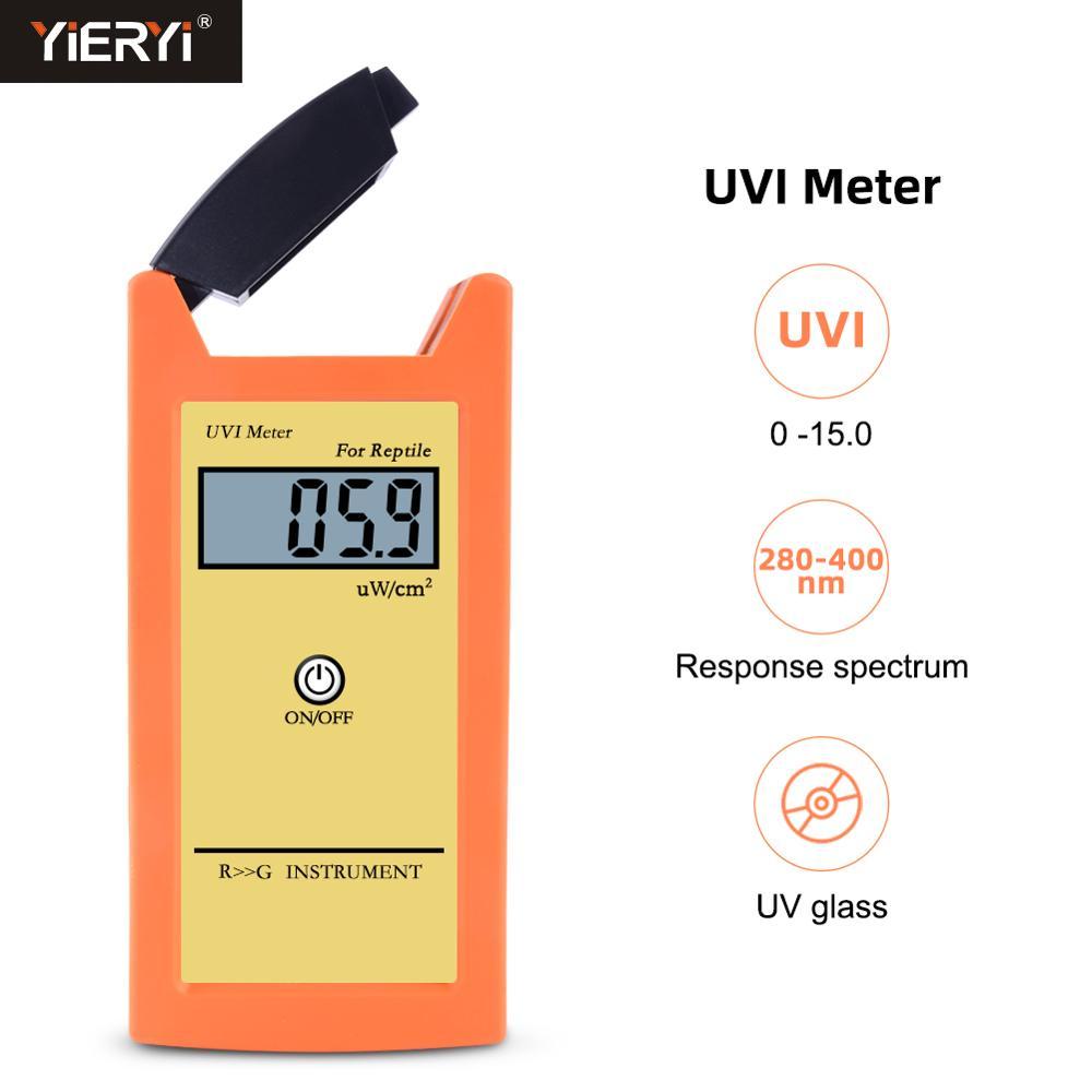 Yieryi الرقمية UVI متر ± 10% المرجع. NIST عالية الدقة اختبار مؤشر الشمس UVI الأشعة فوق البنفسجية كثافة أداة القياس الضوئي