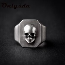 Dropshipping Men's Calvarium Skull Ring Gothic 316L Stainless Steel Biker Ring Motorcycle Band jewel