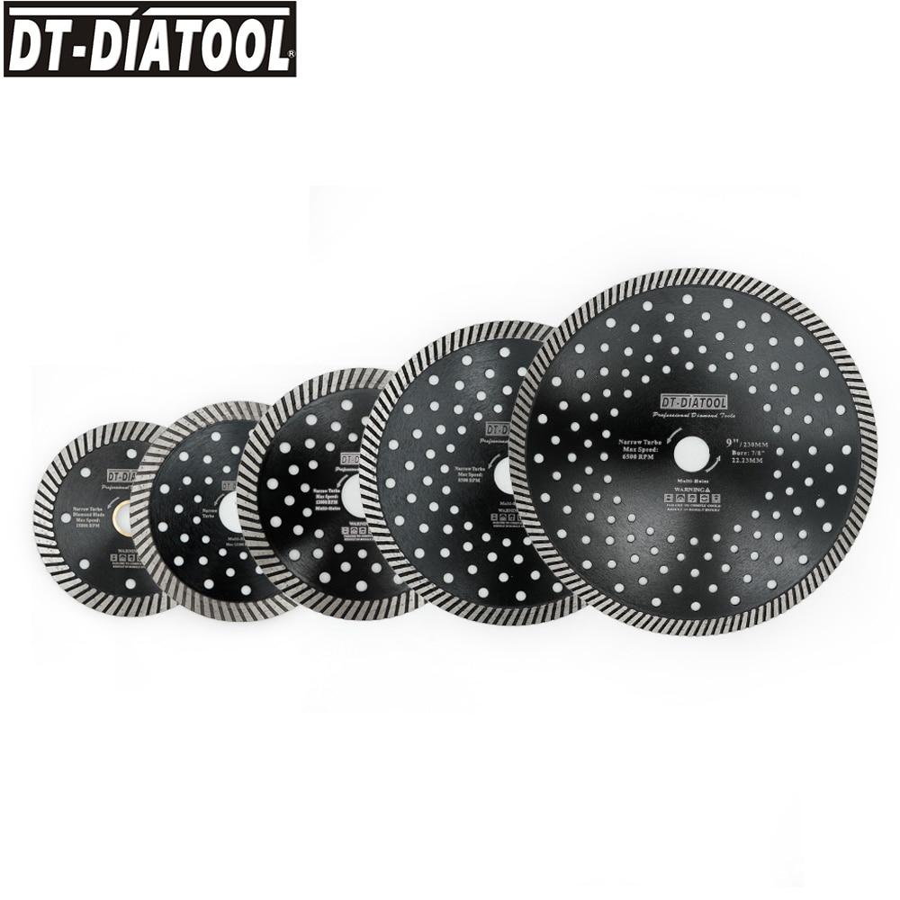DT-DIATOOL, 1 pieza, hoja de sierra Turbo estrecha de diamante con varios agujeros para cortar granito, mármol, hormigón, mampostería, disco de corte Circular