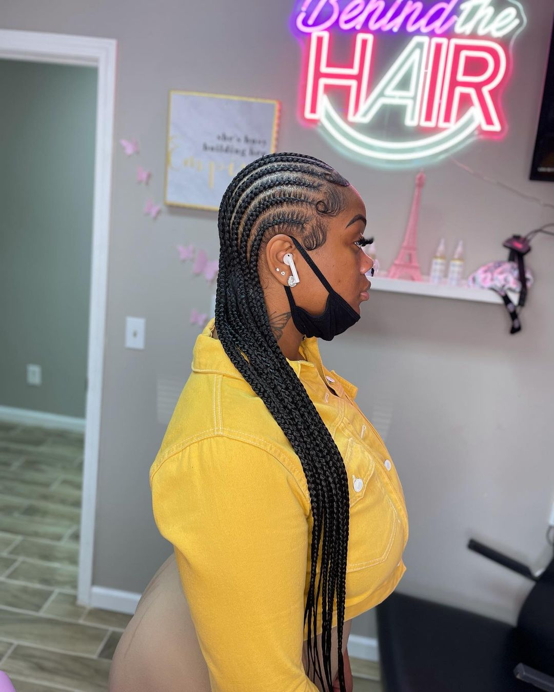 Synthetic Braiding Hair Lace Frontal Wigs Full Lace 32inches Black Wigs For Women Wig Braid Africa Braided Wigs Wholesale