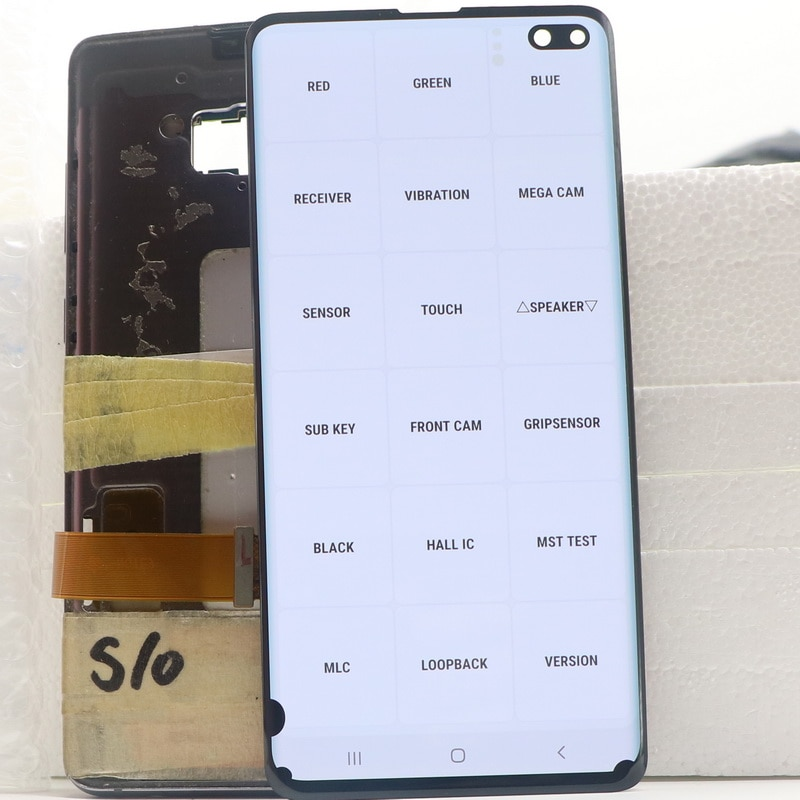 100% Original AMOLED LCD For Samsung Galaxy S10 Plus S10+ Display SM-G9750 G975F SM-G975 Display Touch Screen Digitize Assembly enlarge
