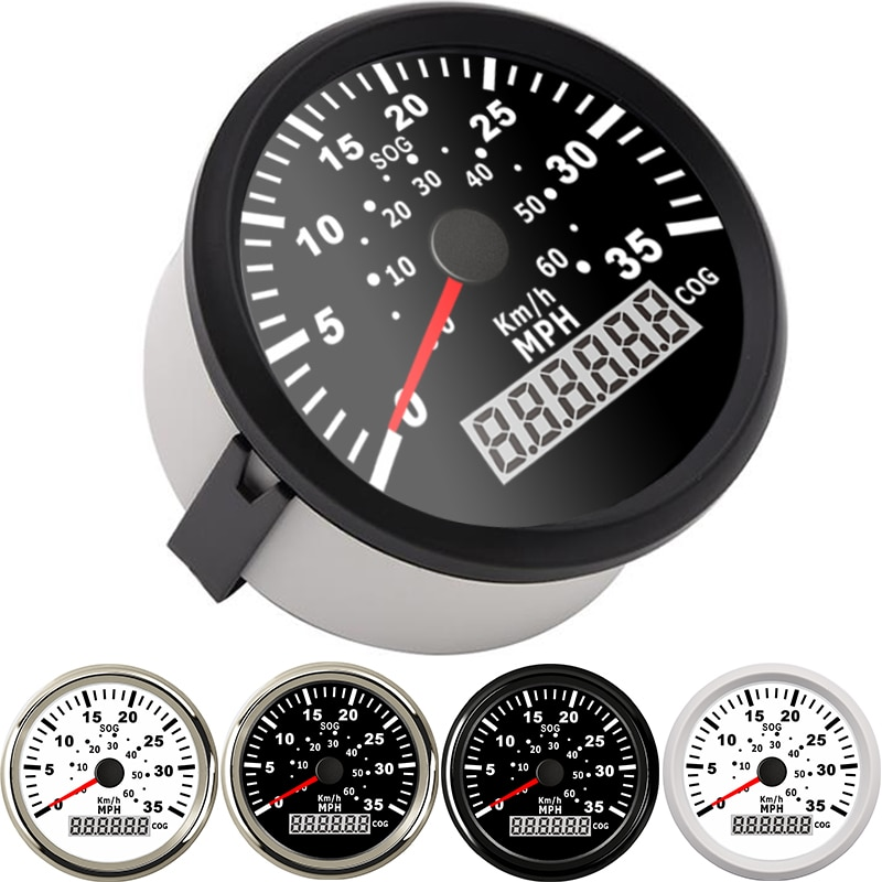 Velocímetro Digital GPS para barco de 85mm, velocímetro para yate, camión marino, odómetro automático COG 35MPH 60 KM/H, medidor universal para moto