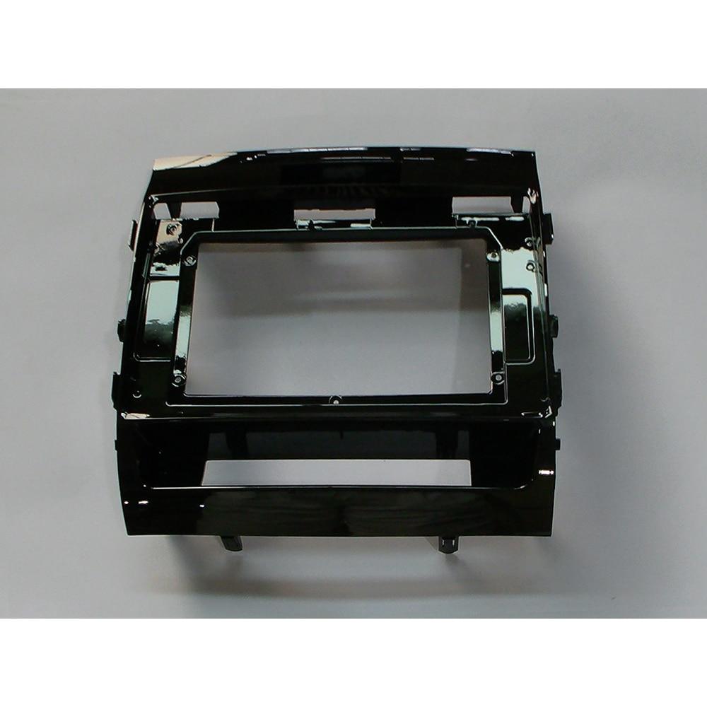 HACTIVOL 2 Din Car Radio placa frontal marco para Toyota Land Cruiser 2007-2012 reproductor de DVD del coche panel kit de montaje de panel accesorios de coche