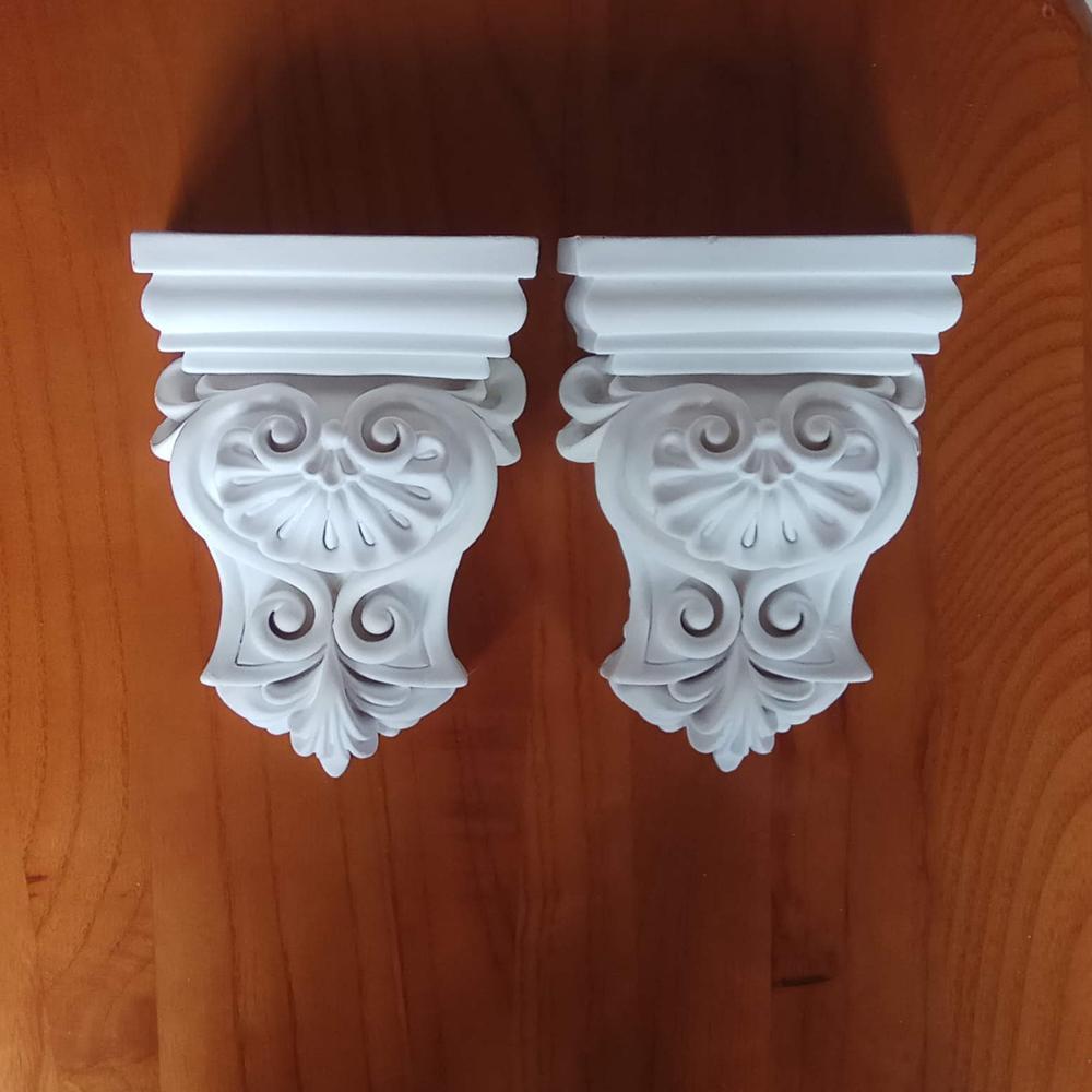 Corbéis de poliuretano do plutônio lareira parte decoração entrada corredor portal suportes casa decoração componente