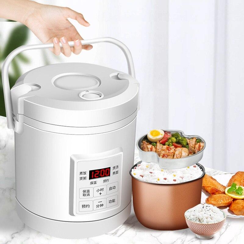 Мини рисоварка, 12 В, 24 В, машина для приготовления супа, каши, машина для приготовления пищи, пароварка, Электрический Подогрев, Ланч-бокс, Под...