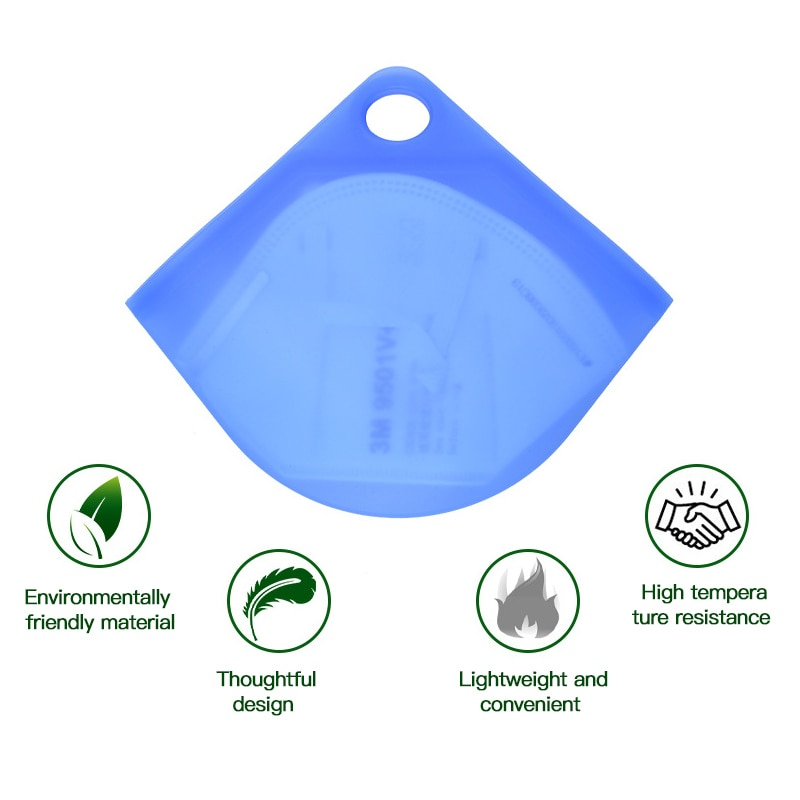 Portable Face Masks Silica Gel Organizer Dustproof And Moisture-proof Cover Holder Case Storage Isolate Bacteria Bag