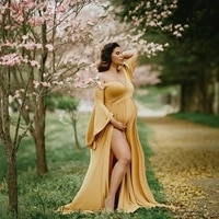 cotton maternity dresses for photography sexy shouldless ruffle pregnant dresses for women puff sleeve maxi long pregnancy dress