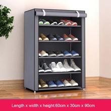 Armario sencillo de tela no tejida para zapatos cerca de la puerta, organizador de zapatos extraíble, mueble para el hogar, armario de almacenamiento