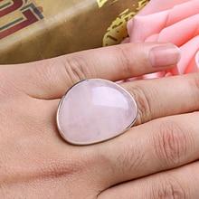 Mignon dame Rose Quartz coeur amour réglable anneau bijoux 1x11