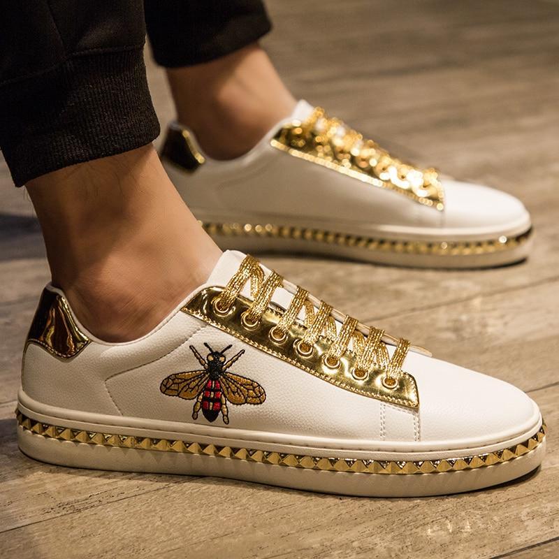 boutique-da-uomo-pu-bianco-squisitamente-ricamato-tacco-piatto-suola-trim-oro-argento-stringate-moda-casual-sneakers-all-match-1kb073