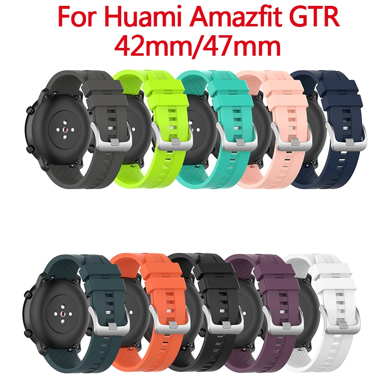 Sport Silicone Watchband Strap for Xiaomi Huami Amazfit PACE Stratos GTR 42mm 47mm Smart Bracelet Watch Accessories 20/22mm