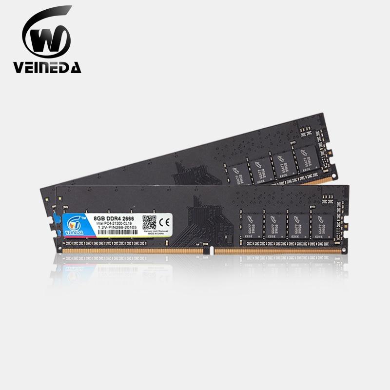 VEINEDA ddr4 8 gb PC 컴퓨터 RAM 4GB 8 GB 4G 8G 메모리 DDR 4 PC4 2133 2400 2666Mhz 데스크탑 DDR4 마더 보드 Memoria 288 핀
