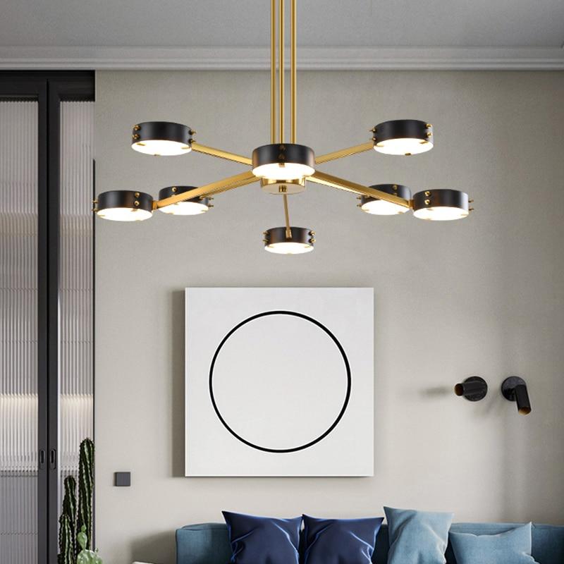 غرفة المعيشة قلادة ضوء الشمال ما بعد الحداثة الإبداعية مطعم الموضة شخصية غرفة نوم مصمم ضوء مصباح بينانت الفاخرة