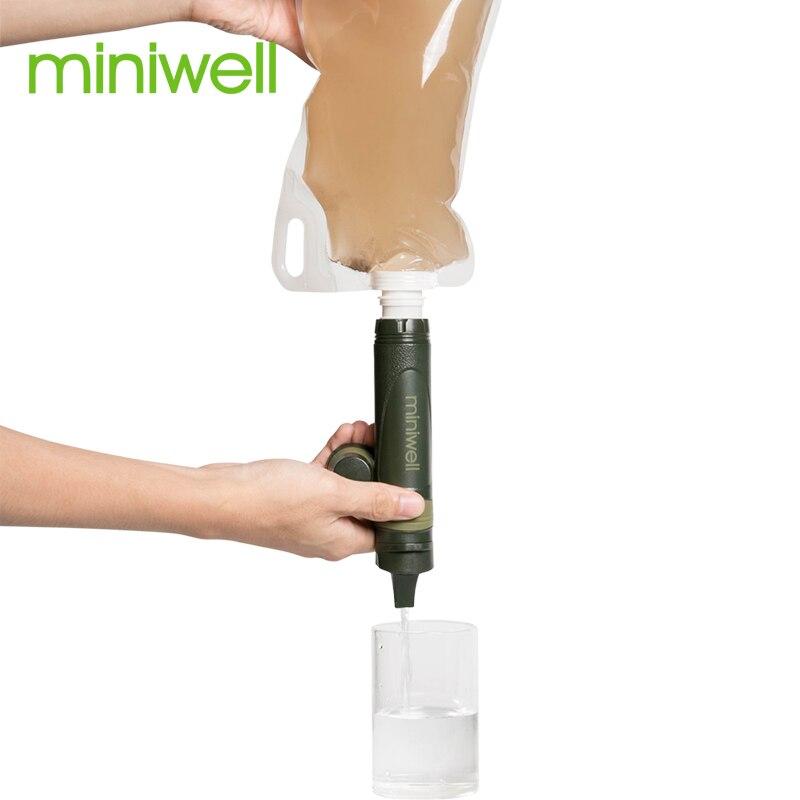 Miniwell L600 военный фильтр для воды, гидратационный фильтр для воды в удаленных селениях и племя