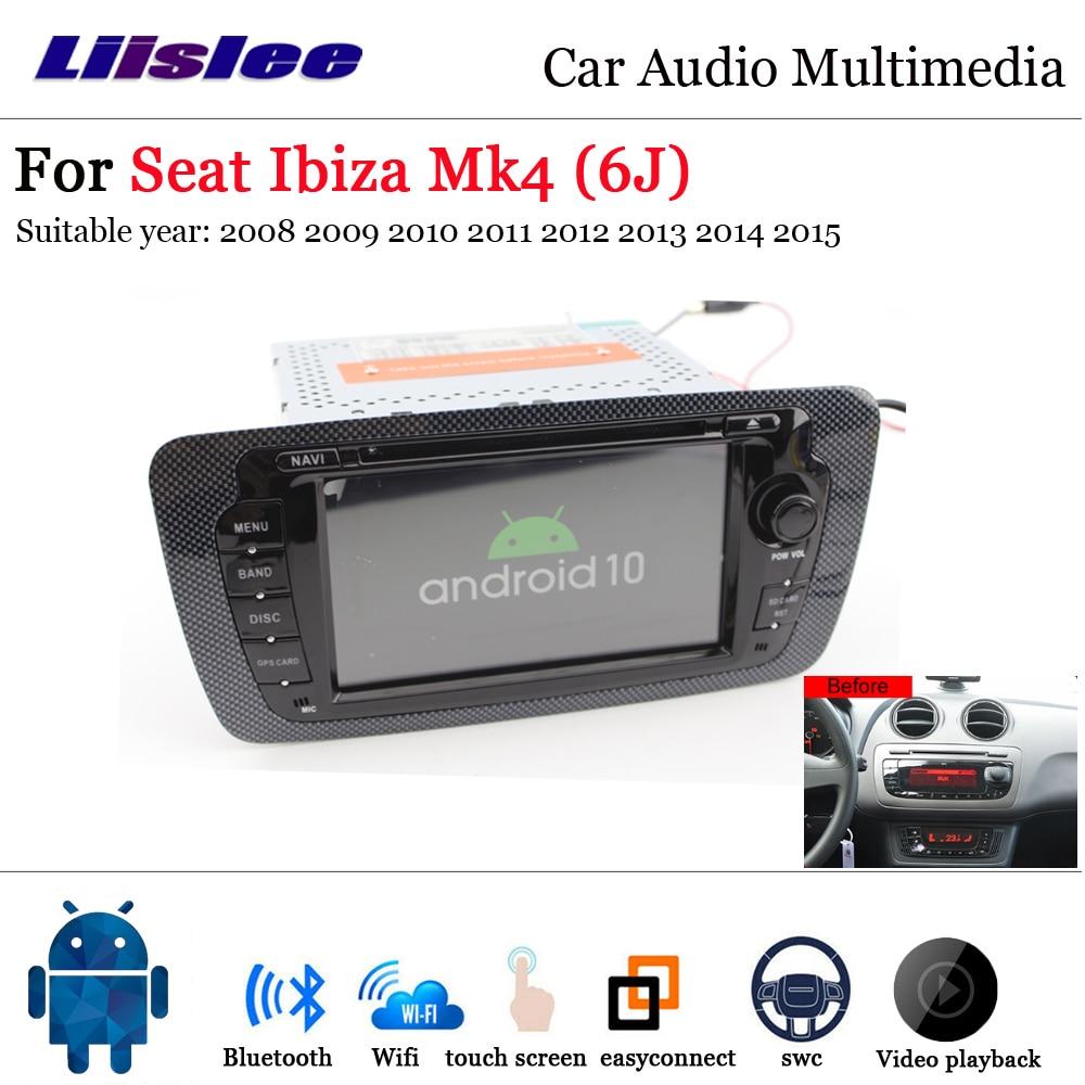 Radio Multimedia para coche con Android 10, 2 Din, para Seat Ibiza 2008 2009 ~ 2015, reproductor de DVD ESTÉREO CON para pantalla de navegación GPS, reproductor Multimedia de Audio