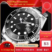 TESEN Top Brand New 43mm Men Luxury Automatic Mechanical Watches 316L Stainless Steel  Sapphire Glas