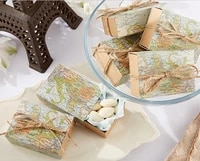 wedding sweet favor box around the world map favor box for traveling theme party candy gift box 100pcslot
