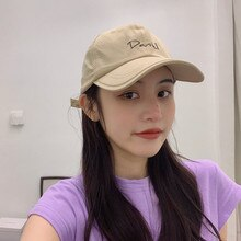 Fashion Letter Japanese Style Thin Peaked Cap Korean Fashion Spring and Summer All-Match Women's Bas