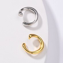 Punk Female Cartilage Clip Ear Geometry Unique Earrings Gold and Silver No Pierced Ears Beautiful Ea