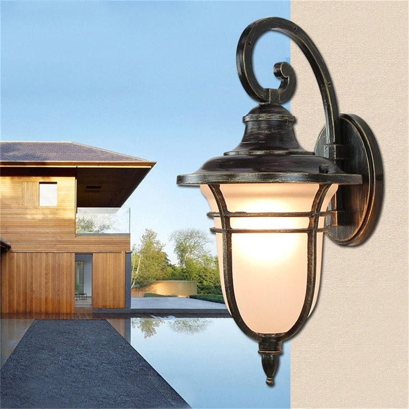 Hongcui Retro Outdoor Wall Lights Classical LED Sconces Lamp Waterproof Decorative For Home Porch Villa enlarge