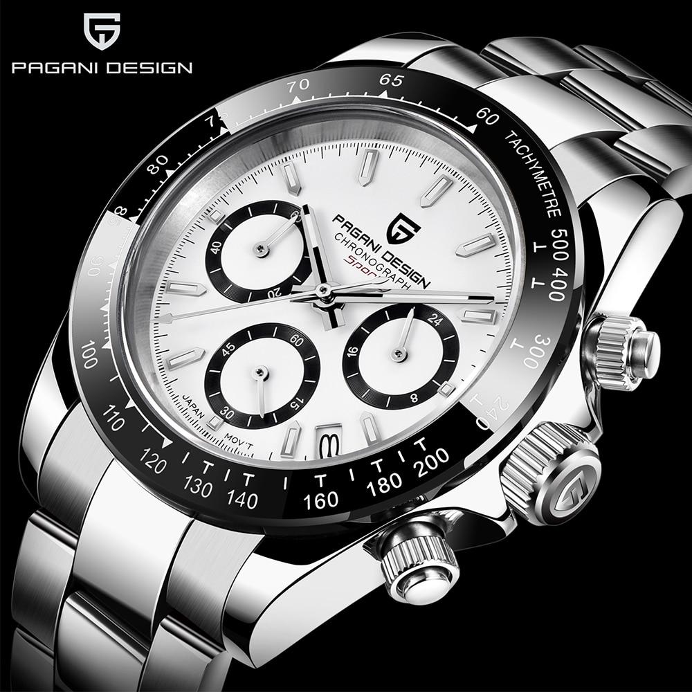 PAGANI تصميم PD1644 أفضل العلامة التجارية الرجال الرياضة ساعة كوارتز الرجال الفاخرة ساعة اليد موضة جديدة عادية الرجال ساعة relogio masculino