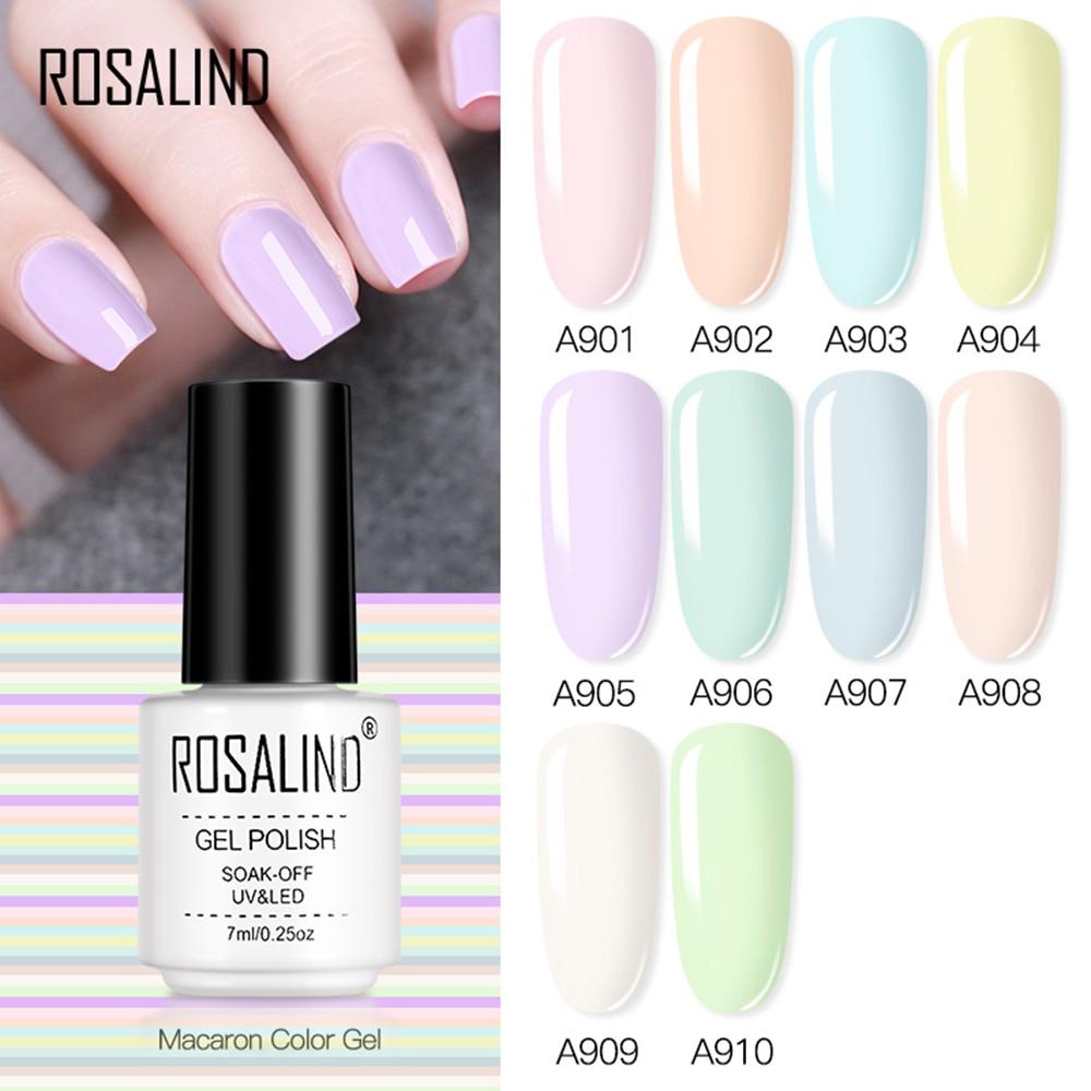 7ml Soak Off Nail Polish Macaron Color Nail Pastel Gel Bright Nail Art Design LED/UV Lamp UV Gel Varnish Nail Art недорого